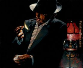 Man lighting Cigarette II